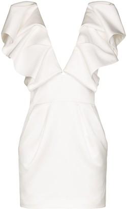 Alexandre Vauthier Ruffled Mini Dress