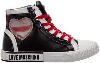 Love Moschino Heart Detailed High Top Sneakers