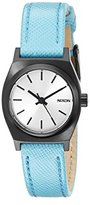 Nixon Women's A5092084 Small Time-Teller Leather Analog Display Quartz Watch