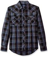 Wrangler Men's Big and Tall Fashion Two Pocket Snap Front Long Sleeve Shirt