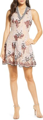 Harlyn Embroidered Fit & Flare Dress