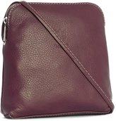 Big Handbag Shop Womens Genuine Soft Italian Leather Mini Cross Body Bag