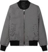 Ami Black/White Polka Dot Bomber Jacket