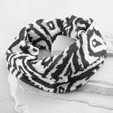 World Market Black and White Geometric Headband