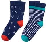 Crazy 8 Shark Crew Socks 2-Pack