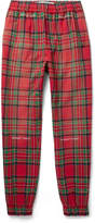 Off-white - Tapered Checked Cotton-blend Trousers
