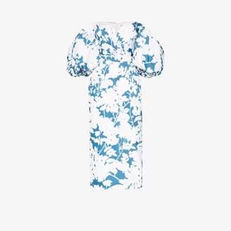 Rasario off-the-shoulder floral print midi dress