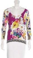 Etro Floral-Print Silk Sweater