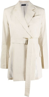 Eudon Choi Alize pinstriped belted jacket