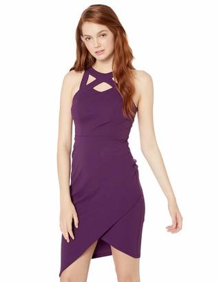 Speechless Womens Lattice Neck Body Con Dress