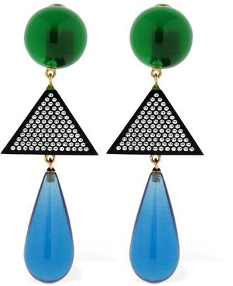 ATTICO Clizia Multicolor Resin Clip-On Earrings
