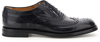 Church's BURWOOD 5 BROGUE SHOES 40 Black, Grey Leather