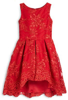 Zoë Ltd Sleeveless Lace Pleated A-Line Dress, Red, Size 4-6