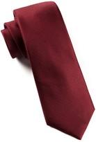The Tie Bar Burgundy Solid Texture Tie