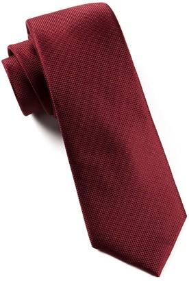Tie Bar Solid Texture Burgundy Tie