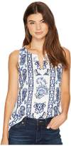 Lucky Brand Embroidered Floral Tank Top Women's Clothing