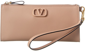 Valentino Vlogo Leather Continental Wallet