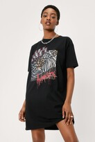 Thumbnail for your product : Nasty Gal Womens Kiss Animalize T-shirt Dress - Black - 4