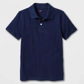 Cat & Jack Boys' Adaptive Short Sleeve Polo Shirt - Cat & JackTM Navy