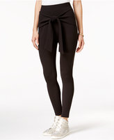 Material Girl Wrap-Front Textured Slim Pants, Only at Macy's