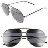 Christian Dior Women's Split 59Mm Aviator Sunglasses - Dark Gunmetal