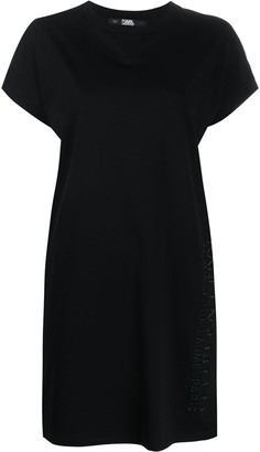 Karl Lagerfeld Paris Address logo T-shirt dress