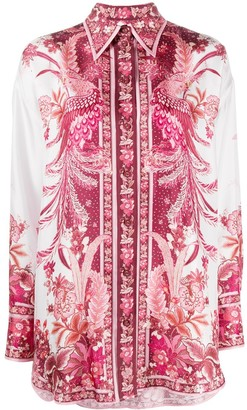 Zimmermann Wavelength Phoenix-print shirt
