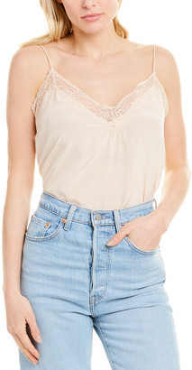 BA&SH Lace-Trim Silk Cami