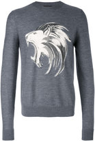 Just Cavalli lion print sweatshirt - men - Wool - M