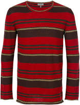 Lanvin striped crew neck sweater