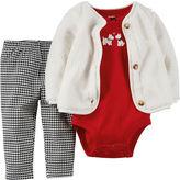 Carter's Cardigan, Bodysuit & Leggings - Baby Girls newborn-24m