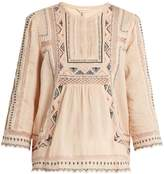 Rebecca Taylor Esme embroidered cotton blouse