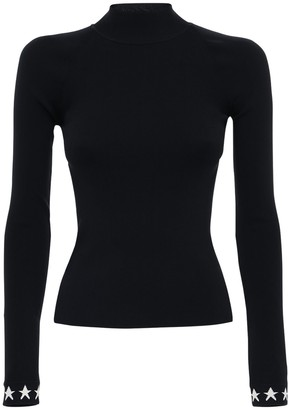 Adam Selman Sport Nylon Knit Top