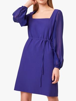 French Connection Addinalla Crepe Square Neck Mini Dress