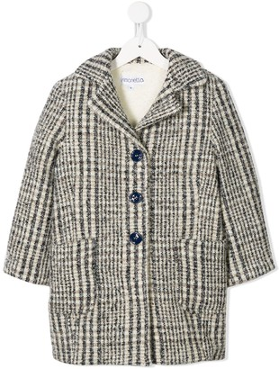 Simonetta Woven Single Breasted Coat