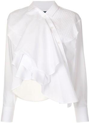 Kolor Asymmetric Ruffle Shirt