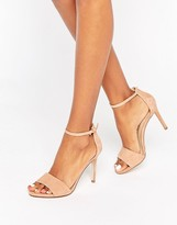 Aldo Fiolla Ankle Strap Suede Heeled Sandals