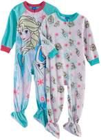 Disney Disney's Frozen Elsa & Olaf Toddler Girl 2-pk. Fleece Footed Pajamas