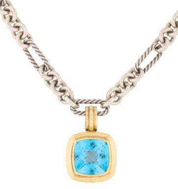 David Yurman Two-Tone Topaz Albion Pendant Necklace