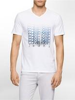 Calvin Klein Slim Fit Ombre Logo V-Neck T-Shirt
