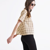 Madewell Plaid Catchline Tee