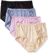 Just My Size Women's Women's 4-pack Nylon Brief Panties
