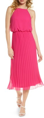 Sam Edelman Pleated Chiffon Midi Dress