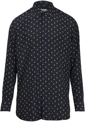 Saint Laurent Anchor Logo Print Silk Shirt