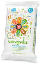BabyGanics On-the-Go 60-pk. Fragrance-Free Flushable Wipes