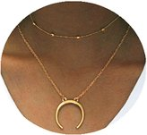 Line & Dot Dot & Line necklace (Gold)
