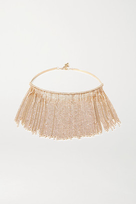 Rosantica Tasseled Gold-tone And Crystal Necklace