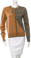 Sophie Theallet Cashmere Printed Panel Cardigan w/ Tags