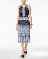 Style&Co. Style & Co Petite Paisley-Print Peasant Dress, Only at Macy's