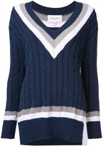 Public School cable knit V-neck jumper - women - Cotton/Nylon/Silk - XS